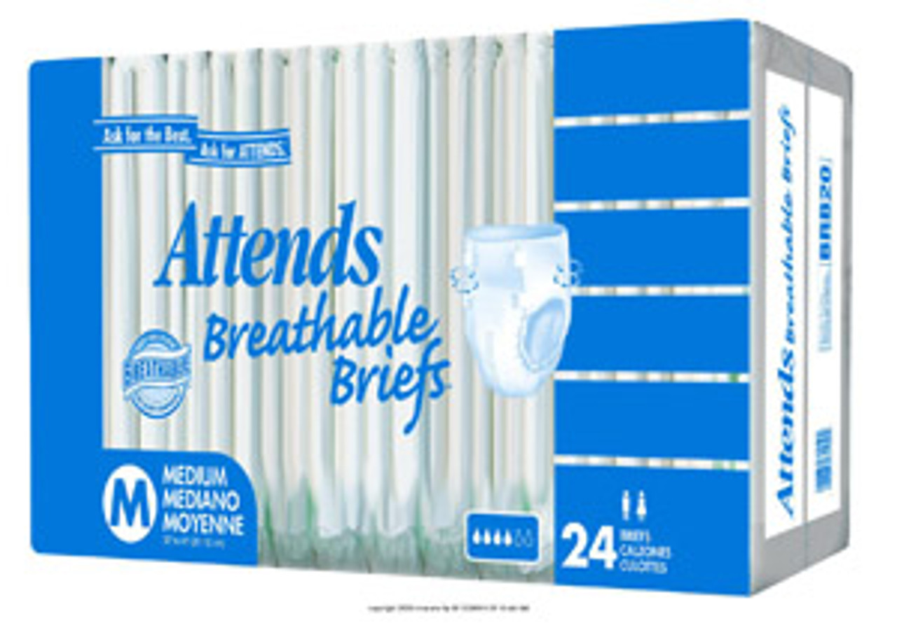 Attends Breathable Brief PNGBRB40PK