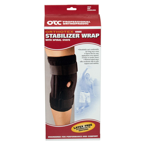 Knee Stabilizer Wrap with Spiral Stays