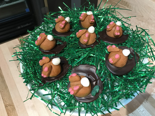 Marzipan Bunny Booties Down-a-Hole