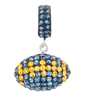 Navy-and-gold-football-charm-pendant