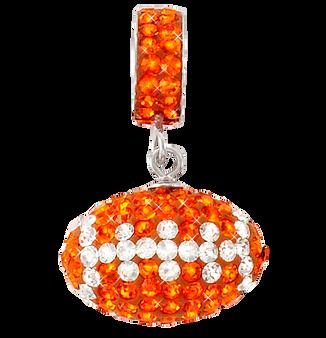 light-orange-and-white-football-charm-pendant
