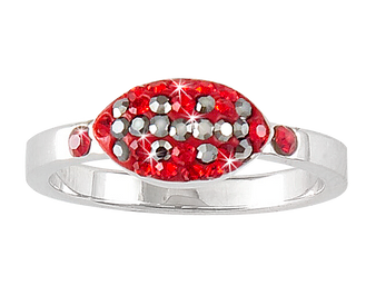 Red-and-gray-football-ring