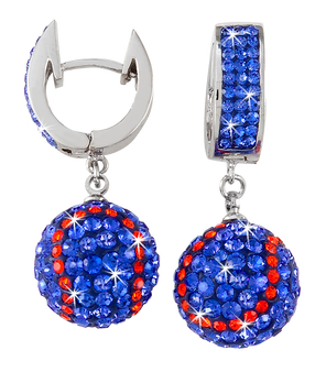 Blue-and-orange-baseball-earrings