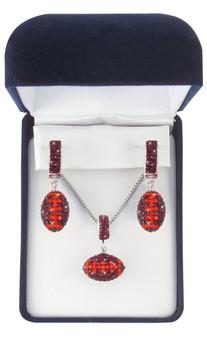 Maroon-and-orange-football-jewelry-set