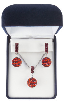 Maroon-and-Orange-basketball-jewelry-set-from-Nisha Design