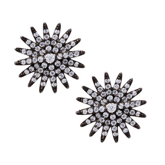 Starburst Earrings - Black