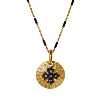 Gold Cross Pendant - Gold Chain