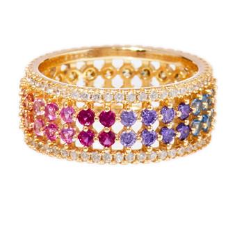 Rainbow Multicolor Circle Ring