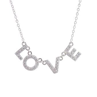 Block Letter LOVE Necklace