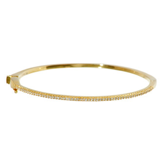 Gold Shimmering Gemstone Bangle