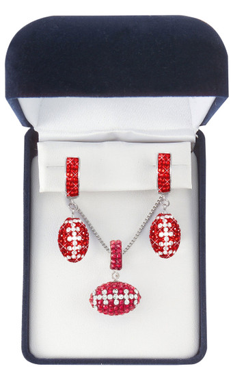 red-and-white-crystal-football-jewelry-set