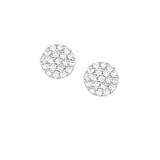 White-rhodium-over-sterling-silver-small-disk-earrings