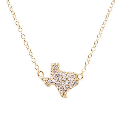 Gold Texas Stone Necklace