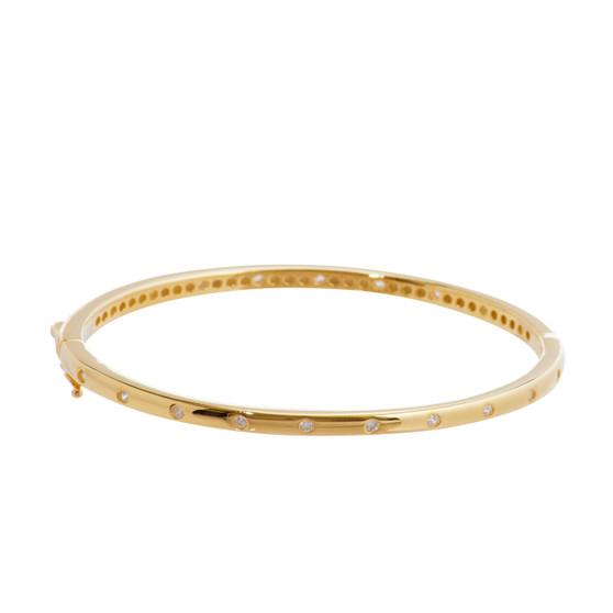 Gold Gemstone Bangle