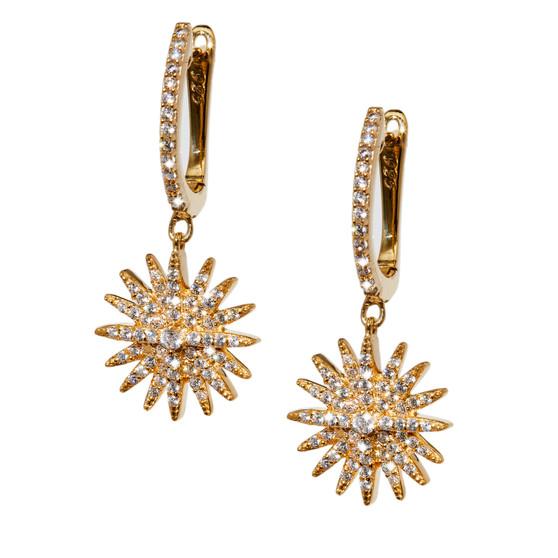Starburst Dangle Earrings - Gold
