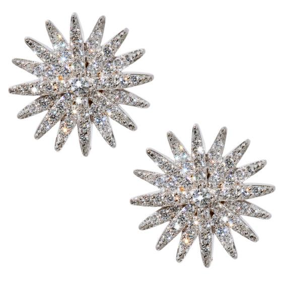 Starburst Earrings - Silver