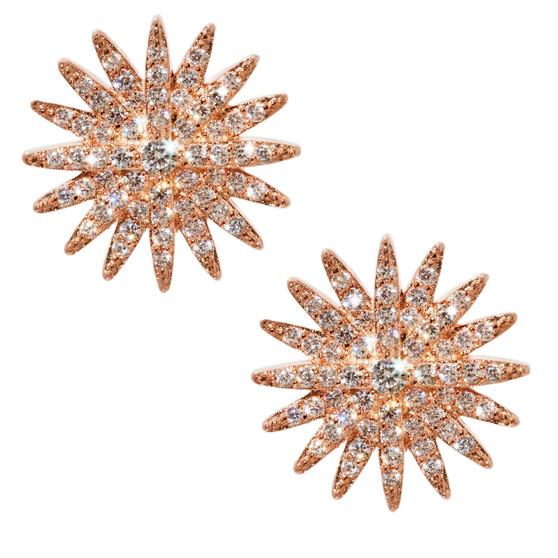 Starburst Earrings - Rose Gold