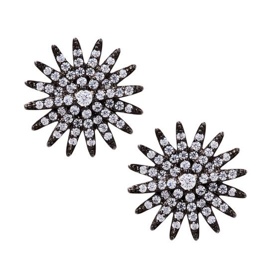 Starburst Earrings - Black