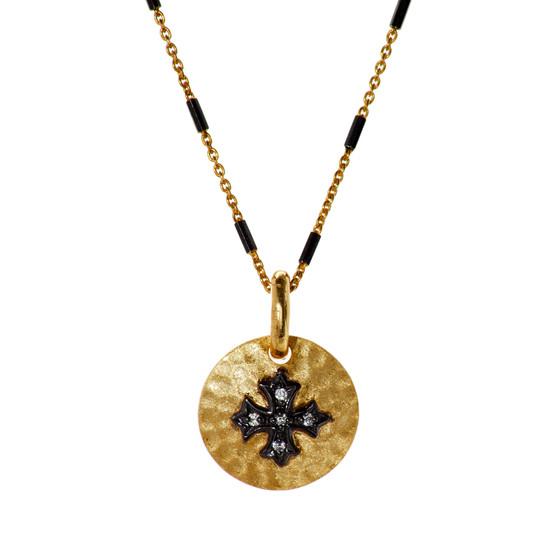 Gold Cross Pendant - Gold Chain
