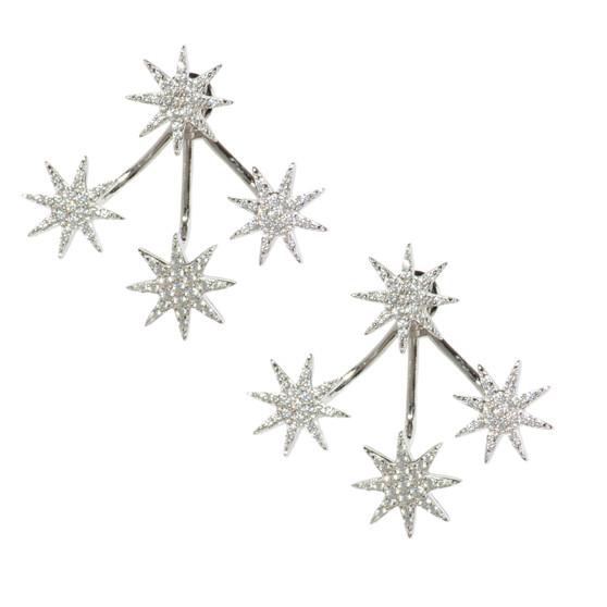 Shooting Stars Earring - Silver