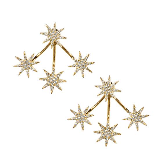 Shooting Stars Earring - Gold