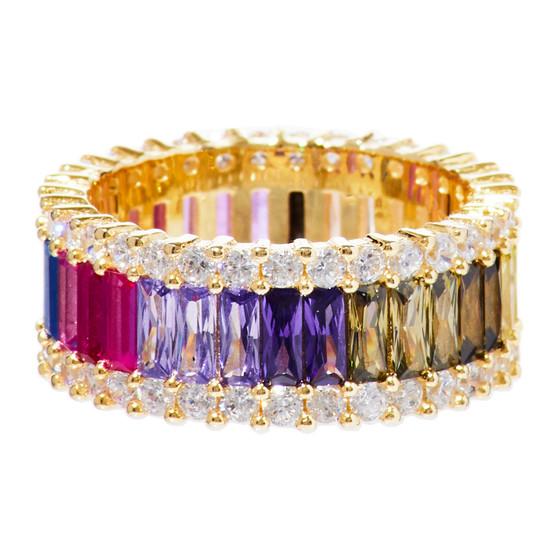 Rainbow Multicolor Ring