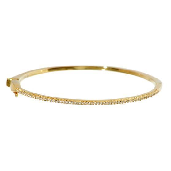 Gold Shimmering Gemstone Bangle