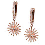 Starburst Dangle Earrings - Rose Gold