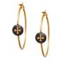 Gold Cross Hoop Earring