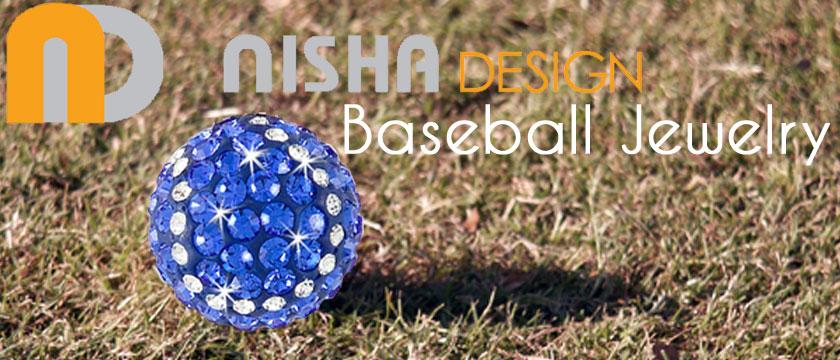 Nisha Design Baseball Jewelry