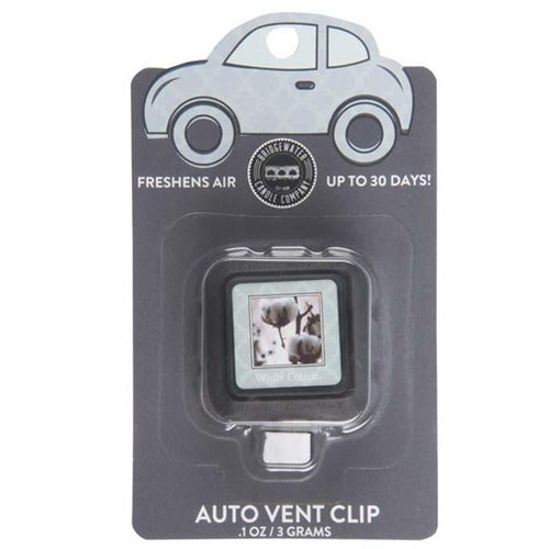 Bridgewater Candle Auto Vent Clip - White Cotton