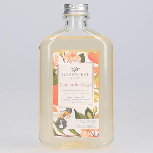 Greenleaf Reed Diffuser Oil 8.5 Oz. - Orange & Honey