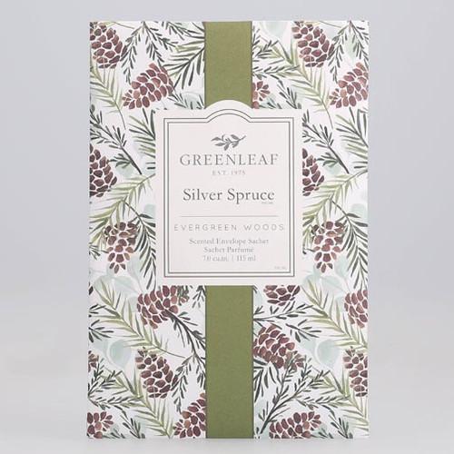 Greenleaf Large Scented Envelope Sachet - Silver Spruce