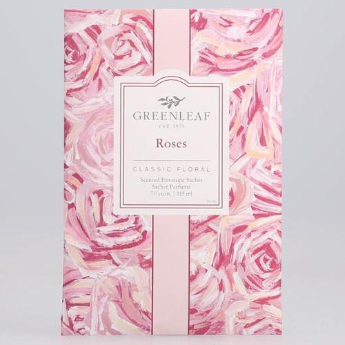 Greenleaf Large Scented Envelope Sachet - Roses