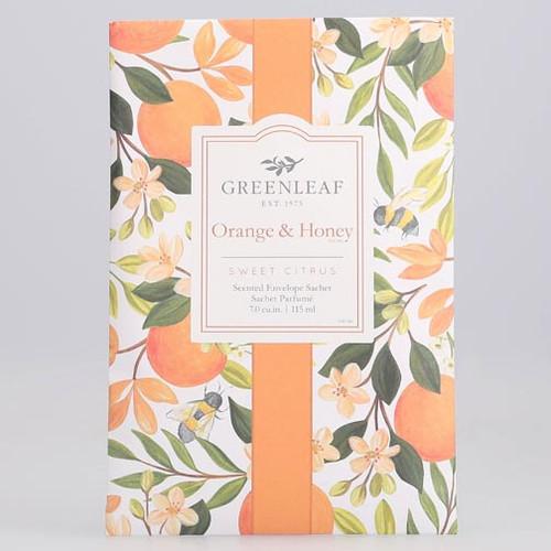 Greenleaf Large Scented Envelope Sachet - Orange & Honey