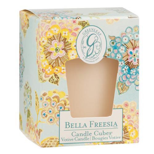 Greenleaf Gifts Candle Cube Boxed Votive - Bella Freesia