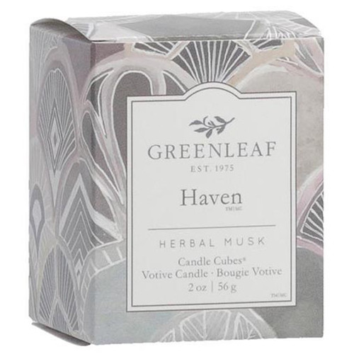 Greenleaf Gifts Candle Cube Boxed Votive - Haven