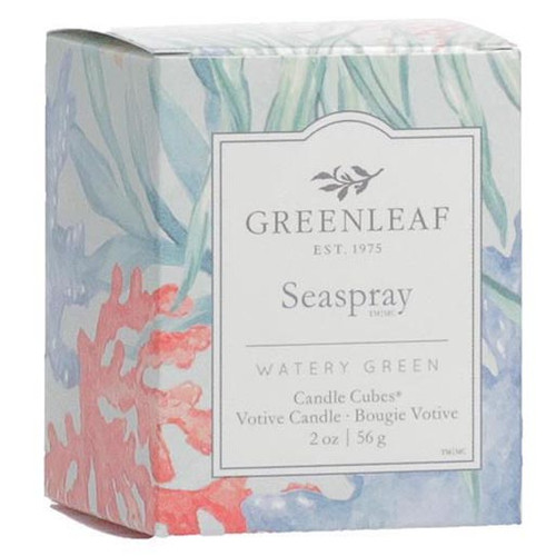 Greenleaf Gifts Candle Cube Boxed Votive - Seaspray