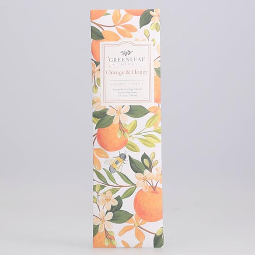 Greenleaf Slim Scented Envelope Sachet - Orange & Honey