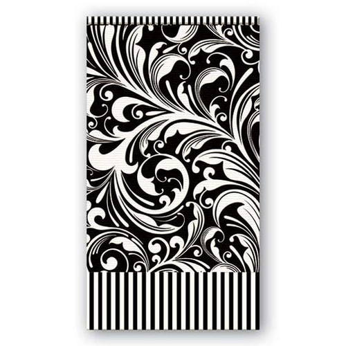 Michel Design Works Paper Hostess Napkins - Black Florentine