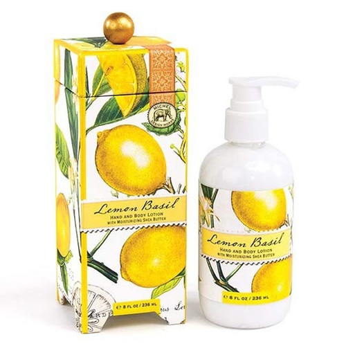 Michel Design Works Hand & Body Lotion 8 Oz. - Lemon Basil