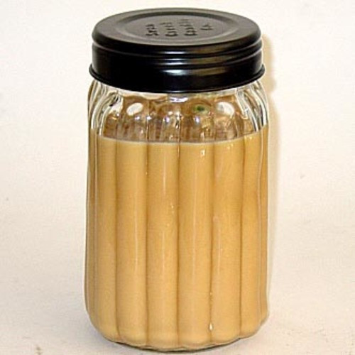 Swan Creek 100% American Soybean 24 Oz. Homespun Jar Candle - Hazelnut