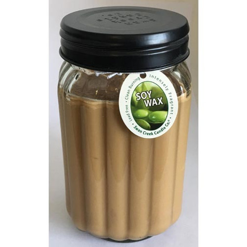 Swan Creek 100% American Soybean 24 Oz. Homespun Jar Candle - Gingerbread