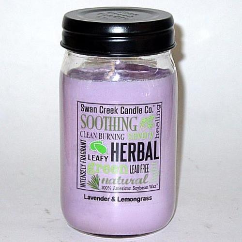 Swan Creek 100% Soy 24 Oz. Jar Candle - Lavender & Lemongrass