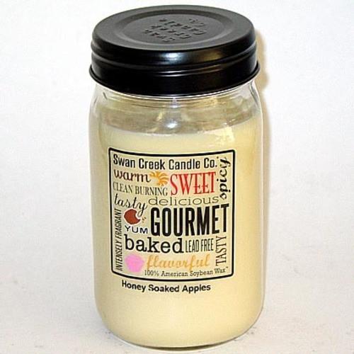 Swan Creek 100% Soy 24 Oz. Jar Candle - Honey Soaked Apples