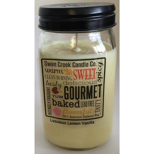 Swan Creek 100% Soy 24 Oz. Jar Candle - Luscious Lemon Vanilla