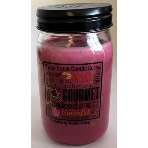Swan Creek 100% Soy 24 Oz. Jar Candle - Cranberry Apple Crisp