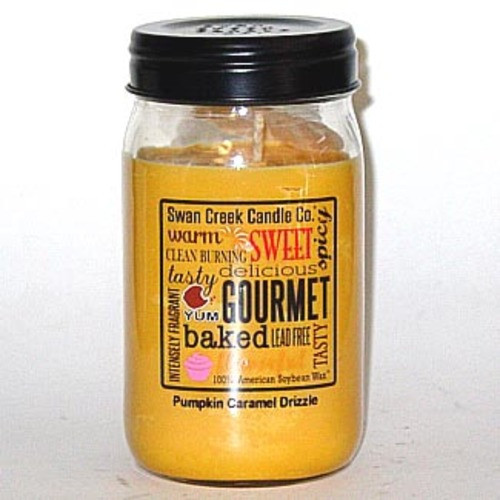 Swan Creek 100% Soy 24 Oz. Jar Candle - Pumpkin Caramel Drizzle