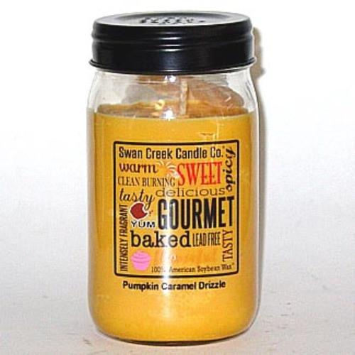 Swan Creek 100% Soy 24 Oz. Jar Candle - Pumpkin Caramel Drizzle