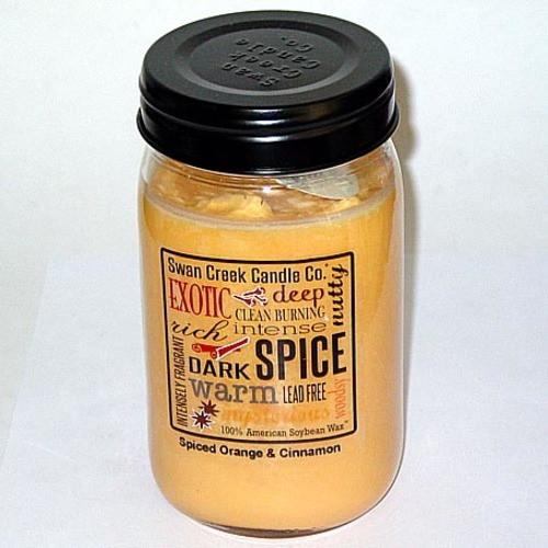 Swan Creek 100% Soy 24 Oz. Jar Candle - Spiced Orange & Cinnamon